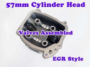 GY6 150cc 57mm Bore EGR cylinder head with valve