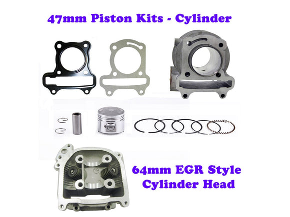 QMB139 47MM Cylinder Engine Kit with 64mm -EGR Head