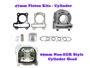 QMB139 47MM Cylinder Engine Kit with 69mm Non-EGR Head