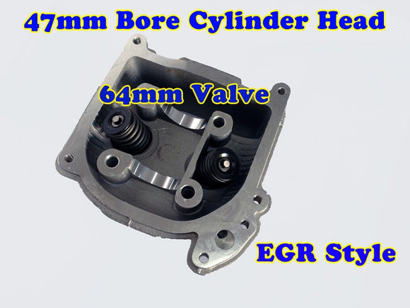 GY6 80cc 47mm Bore EGR cylinder head with 64mm valve