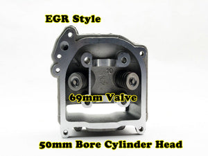 GY6 100cc 50mm Bore EGR cylinder head with 69mm valve - ChinesePartsPro