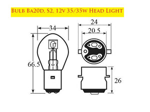 Bulb Ba20d, S2, 12v 35/35w Head Light