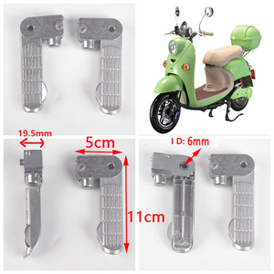 Motorcycle Footpegs Aluminum Chrome Foot pegs Footrest Footboards
