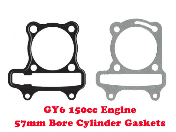 Universal Parts GY6 150cc 57mm Cylinder Head Gasket Kit