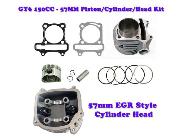 57mm GY6 150cc Cylinder Engine kit with EGR Head