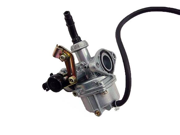 50cc 70cc 90cc 110cc PZ19 Carburetor  w/ Choke Cable Bracket Dual Fuel Petcock - ChinesePartsPro