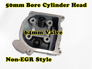 GY6 60cc 44mm Bore non-EGR cylinder head with 64mm valve