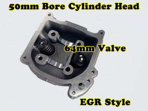 GY6 60cc 44mm Bore EGR cylinder head with 64mm valve