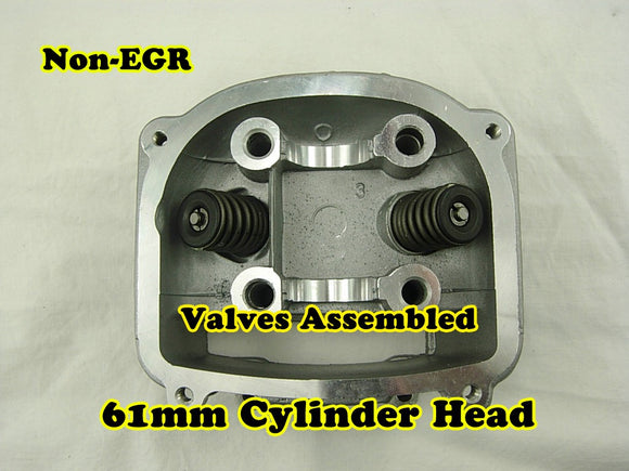 GY6 180cc 61mm Bore non-EGR cylinder head with valve - ChinesePartsPro