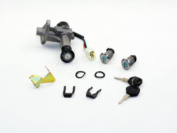 Key Switch Lock cylinder set assy GY6 125CC - ChinesePartsPro