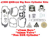 QMB139 47mm Big Bore Cylinder Kit Non-EGR with *64mm Valve* - ChinesePartsPro
