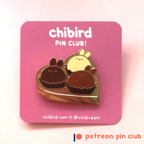 Chocolate Bunnies Enamel Pin