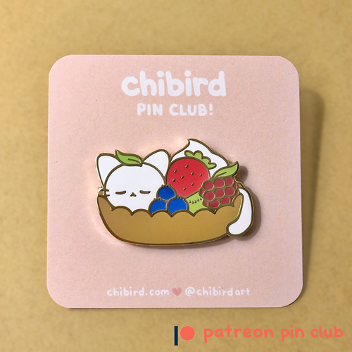 Fruit Tart Cat Enamel Pin