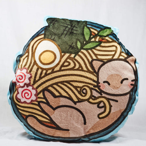 Ramen Cat Plush Pillow
