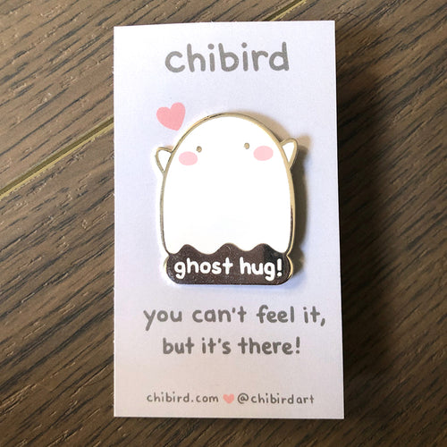 Ghost Hug Enamel Pin