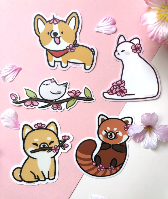 Cherry blossom sticker pack