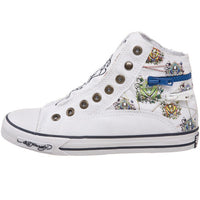 Ed Hardy Atlanta High-rise White Fashion Sneaker Shoes for Kids