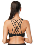 NS Activewear Strappy Cross-back Padded Yoga Sport Bra