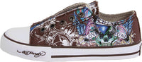 Ed Hardy Kids Low-rise 100 Fashion Slip on Chocolate Sneaker Shoes