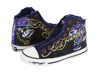 Ed Hardy Authentic High-rise Black Fashion Sneaker Shoes for Kids
