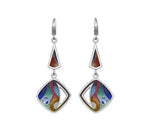 Sterling Silver Enamel Drop/Dangle Earrings made with Swarovski Crystals