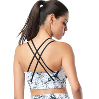 NS Activewear Double Tap Cross-Back Yoga Mesh Bra