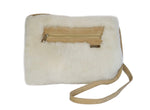 Beach Feet Australian sheepskin Handwarmer Purse Women Winter Shoulder Bag