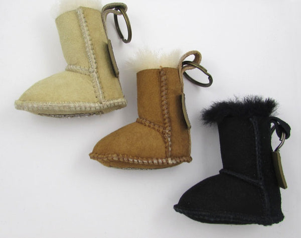 Beach Feet Australia Real Sheepskin Suede Boot Key Chain