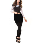 Memoi Fashion Woman's Black Skeggings Skirt & Leggings Combination