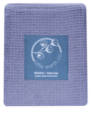 Organic Cotton Waffle Double Blanket - Koala Grey