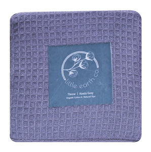 Organic Cotton Waffle Throw - Natural