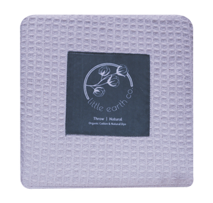 Organic Cotton Waffle Throw - Koala Grey
