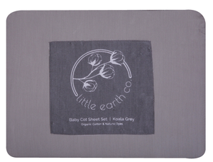 Baby Cot Sheet Set - Koala Grey