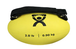 CanDo Handy Grip™ weight ball - 2 lb - Yellow