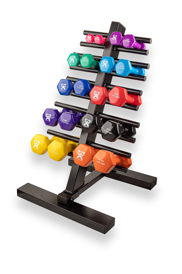 CanDo® vinyl coated dumbbell