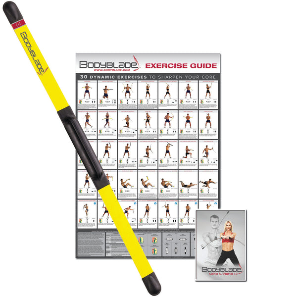Bodyblade® CXT with workout and instructional video, yellow