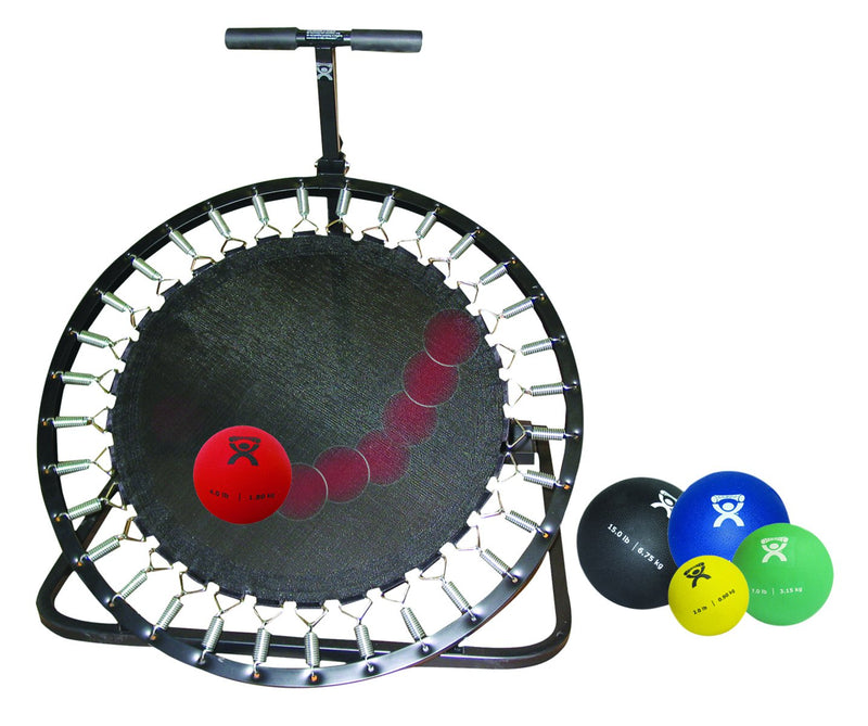 Adjustable Ball Rebounder set with Circular Rebounder, 5-balls (1 each: 2,4,7,11,15 lb)