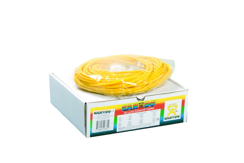 CanDo Latex Free Exercise Tubing - 100' dispenser roll- Yellow- Extra Light
