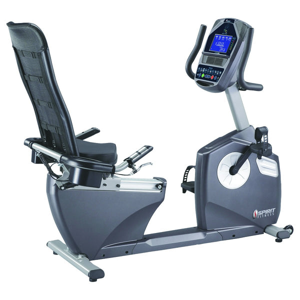 "Spirit XBR95 Recumbent Bike, 57"" x 30"" x 50"""