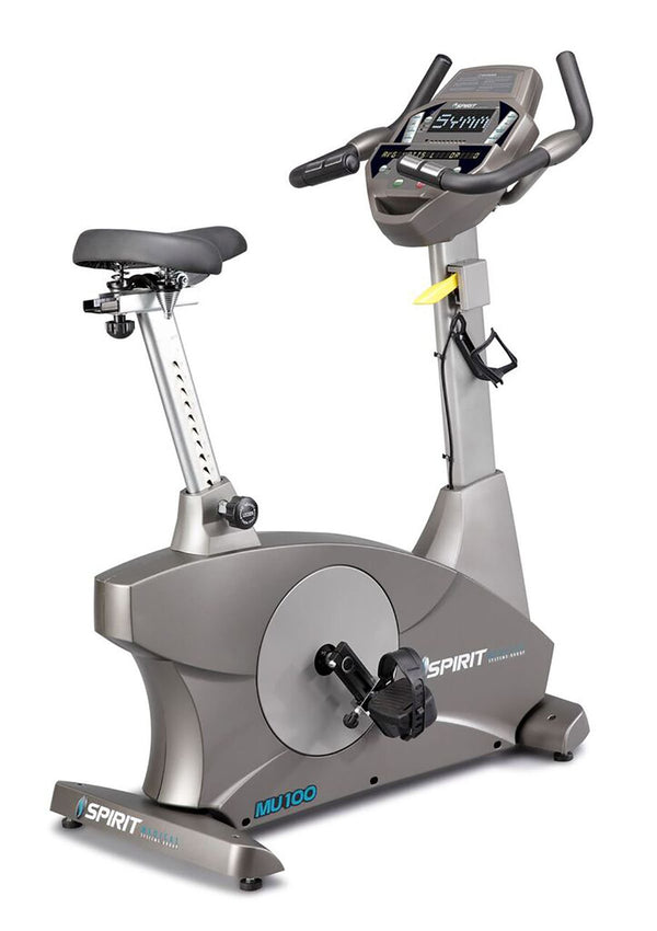 "Spirit MU100 Upright Ergometer Bike, 57"" x 22"" x 54"""