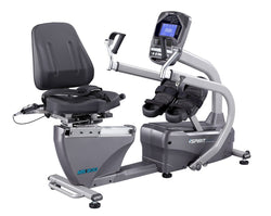 "Spirit MS300 Adjustable Recumbent Stepper, 67"" x 30"" x 48"""