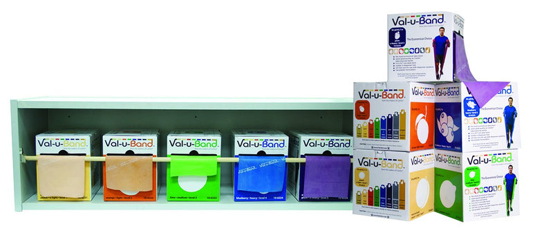 Val-u-Band Low Powder Twin-Pak 100 yard - 5 color set- 50 yard boxes of each color with Wood Rack