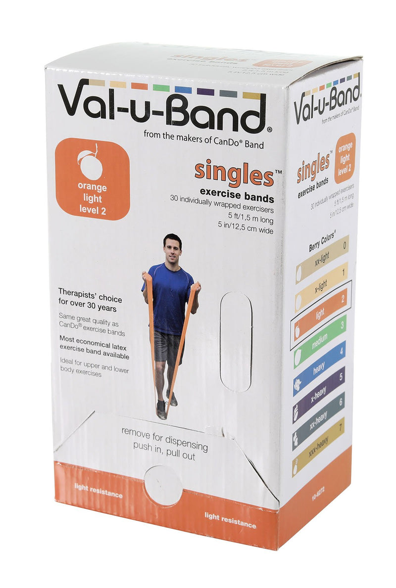 Val-u-Band - Low Powder - 5-foot strip - 30-piece dispenser - orange (level 2/7)