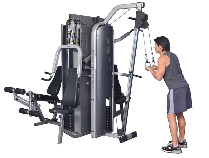 "Inflight Fitness, Liberator Training System, Five Stacks, Cable Crossover (84""), Full Shrouds"