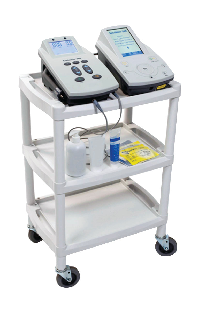 Mettler® 73 plastic 3-shelf cart