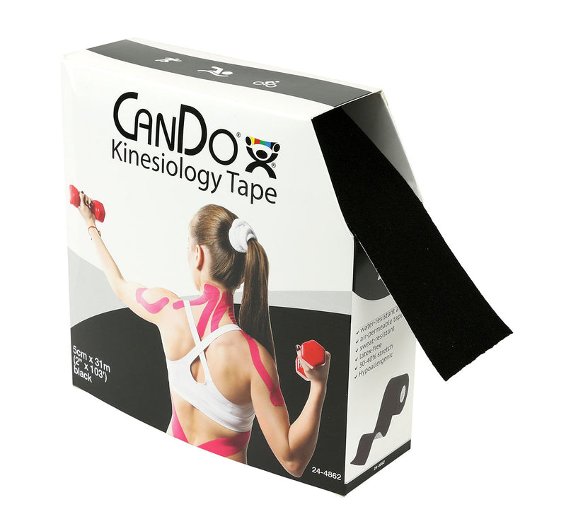 "CanDo® Kinesiology Tape, 2"" x 103 ft, Black, 1 Roll"