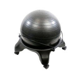 "CanDo Ball Stool - Plastic - Mobile - No Back - Adult Size - with 20"" Ball"