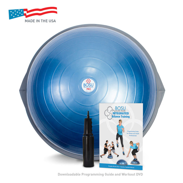 BOSU® PRO Balance Trainer with training manual and instructional video