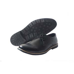 Foax Brogue Black Formal LAce Up Shoes For Men's