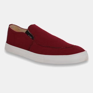 Foax Maroon Causal Slip On Shoes
